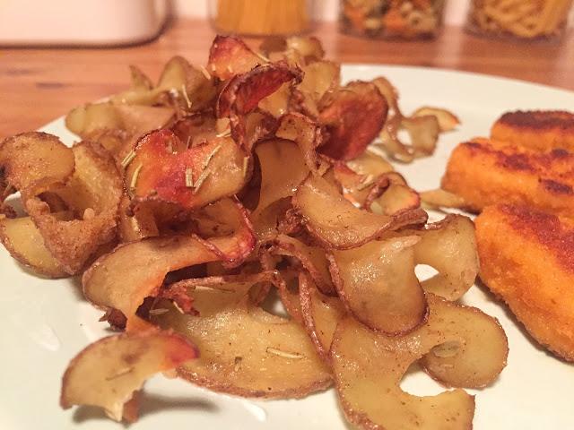 Selbstgemachte Chips oder auch knusprige Kartoffelspiralen
