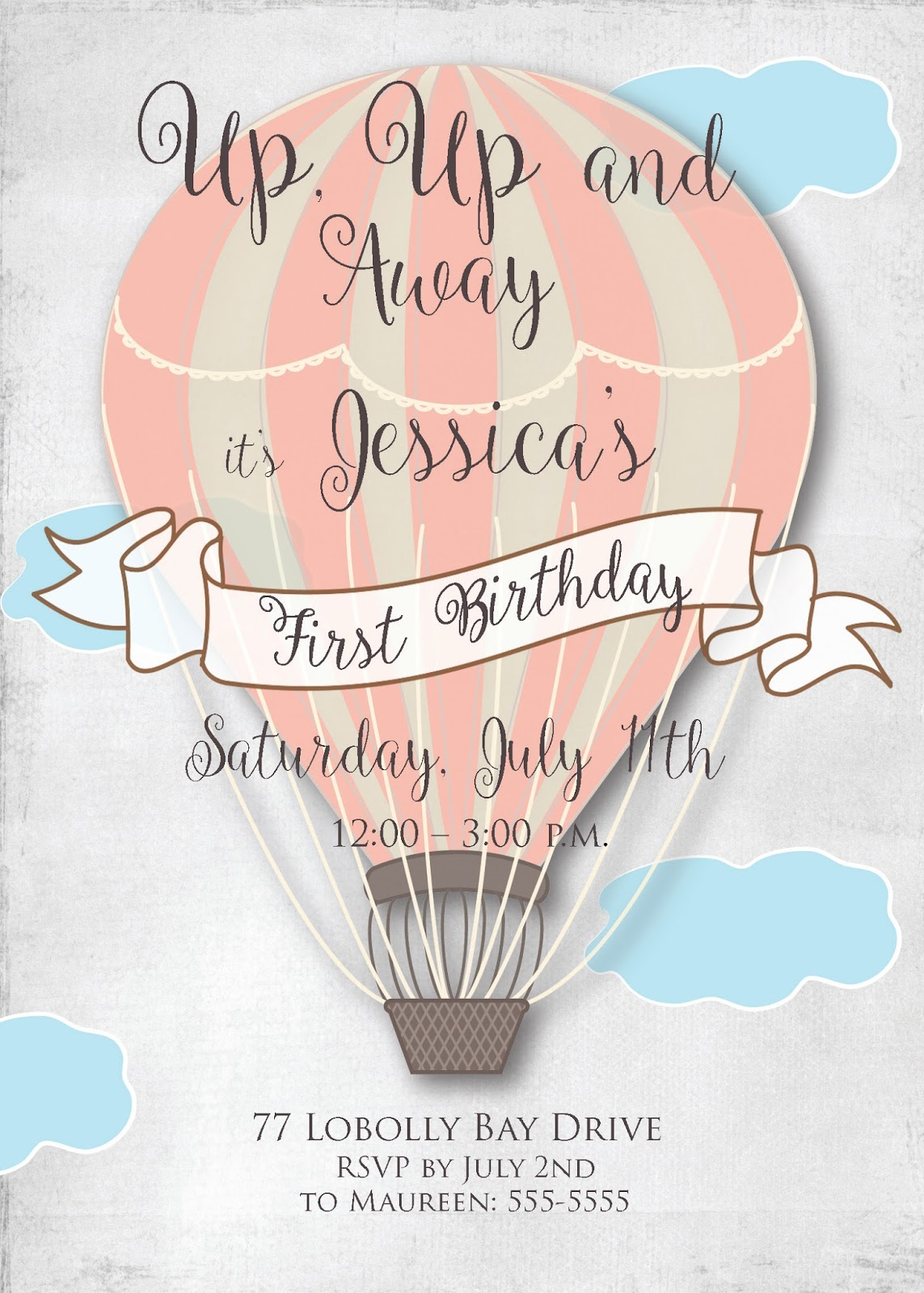 Sugar and spice invitations hot air balloon birthday party hot air balloon birthday party invitation first birthday invite sugar and spice invitations filmwisefo
