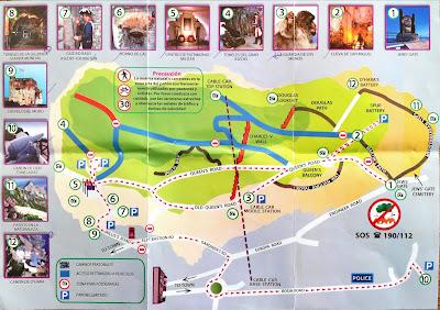 Gibraltar and Gibraltar Nature Reserve, Upper Rock Brochuress and Maps