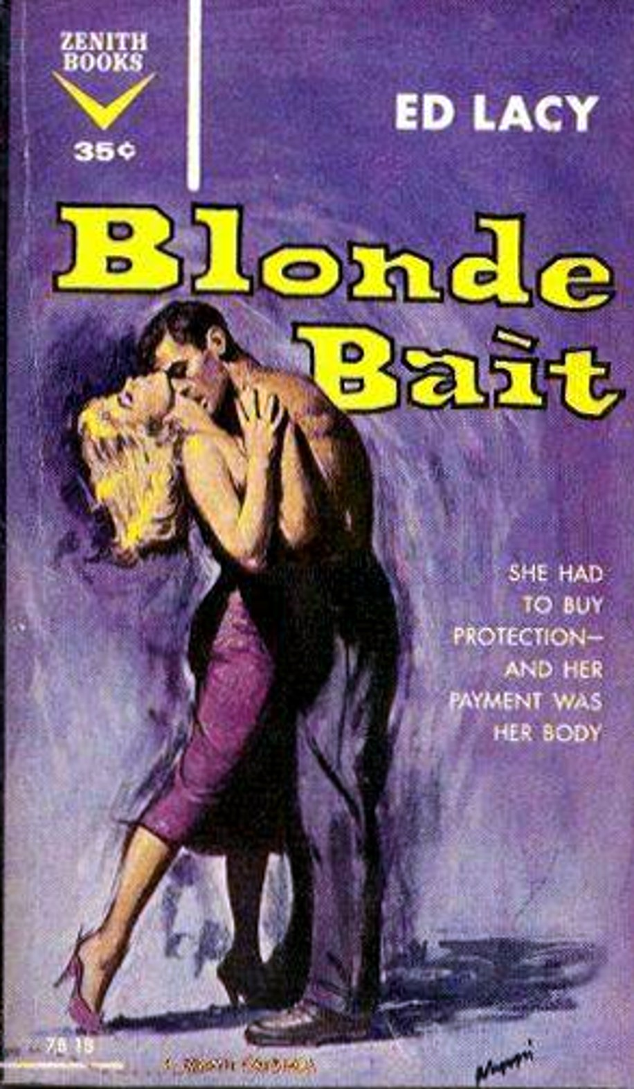 Ed Lacy's 1959 Zenith Books Novel Blonde Bait Has A Great Opening: Our  Narrator, Charter Boat Skipper Mickey Whalen, Finds A Beautiful Blonde On A  Deserted