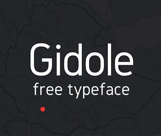 Gidole Sans free font