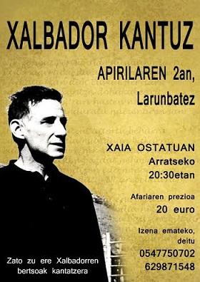 2 DE ABRIL - XALBADOR KANTUZ - APIRILAREN 2an