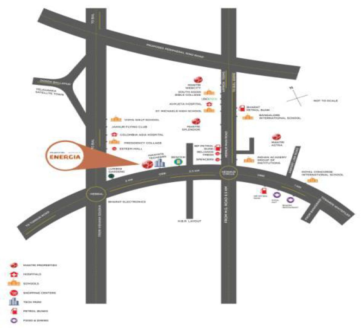 Location Map Mantri Energia