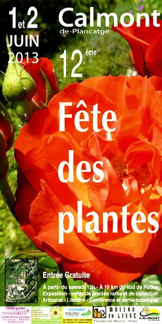 affiche fête des plantes à Calmont 12