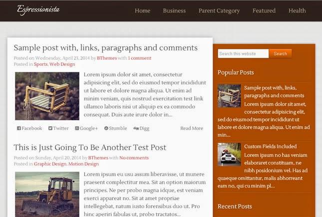 Espressionista Responsive Blogger Template