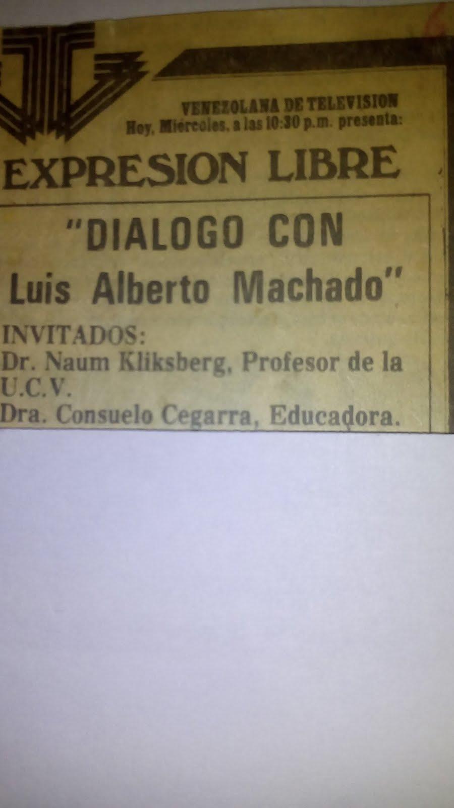 30 - Periódico EL NACIONAL, VENEZUELA. 07/03/1979. ANUNCIANDO UN PROGRAMA DE TV EN EL