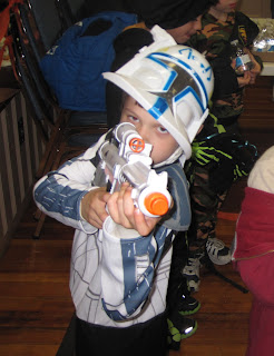 young boy as Commander Rex for Halloween