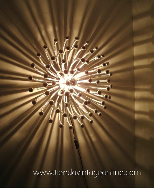 Lámpara pistillo encendida. Lámparas de la historia, míticas, reconocidas.