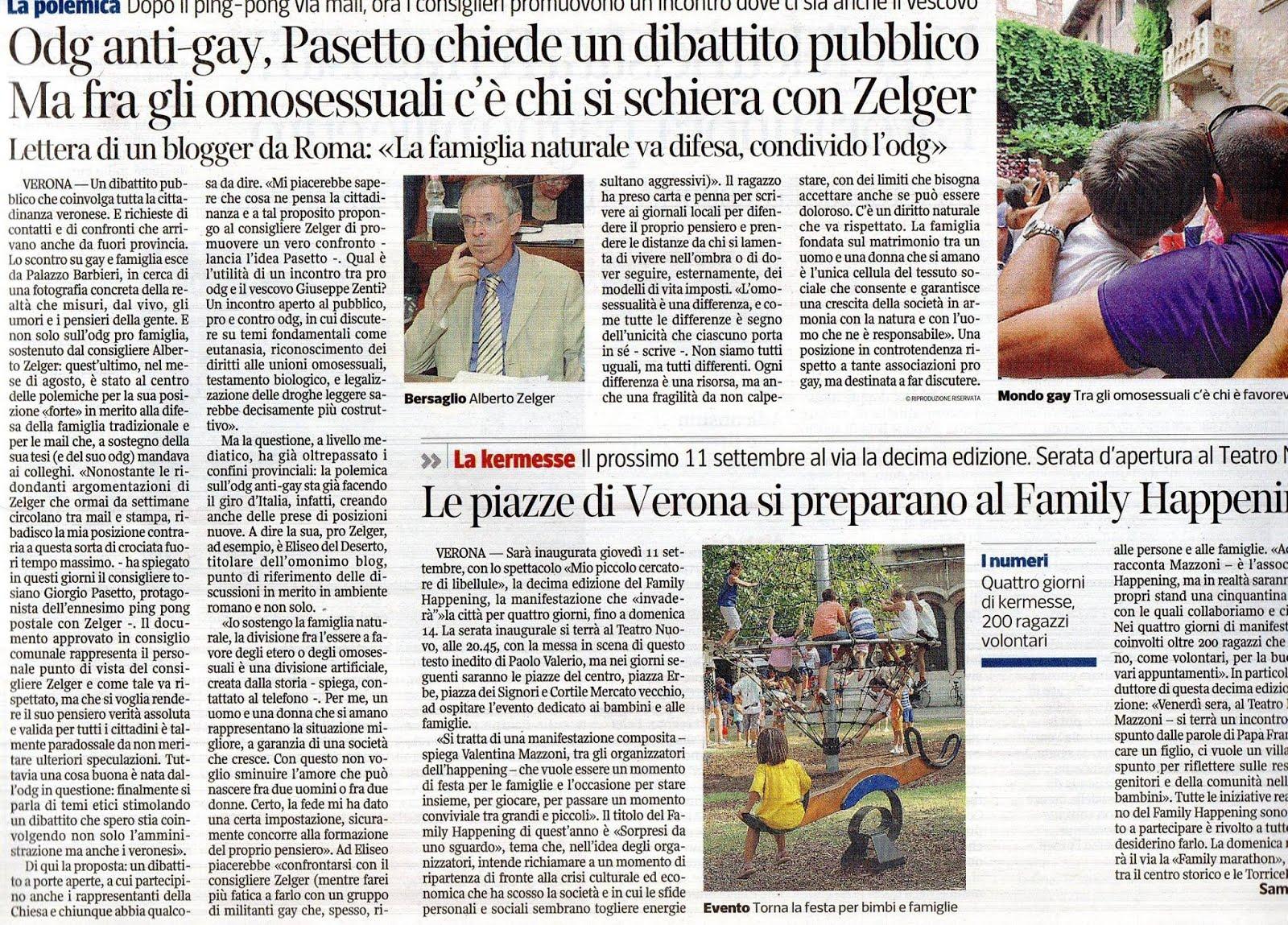 """Sul """"Corriere del Veneto"""" del 21/08/2014"""