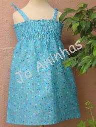 Vestido Praia Azul c/ Flores