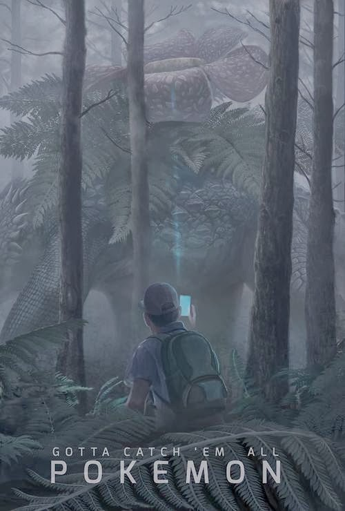 pokemon poster, venusaur huge forest gotta catch 'em all them