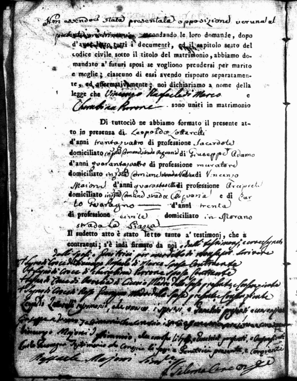 Marriage Record of Vincenzo Rafaele di Marco and Cherubina Perrone 2dc7b0533b57