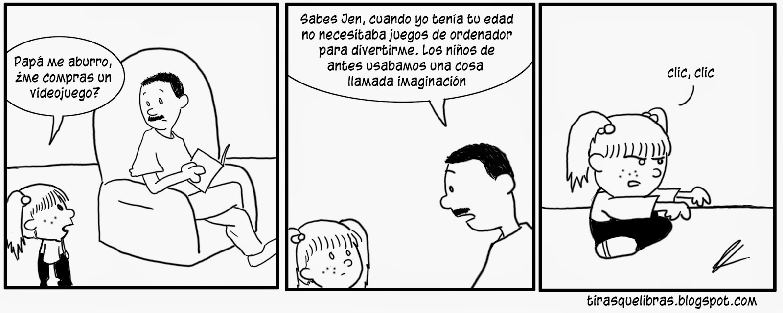webcomic, jen quiere que le compren un ordenador