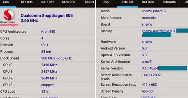 Nexus 6 lộ cấu hình khủng