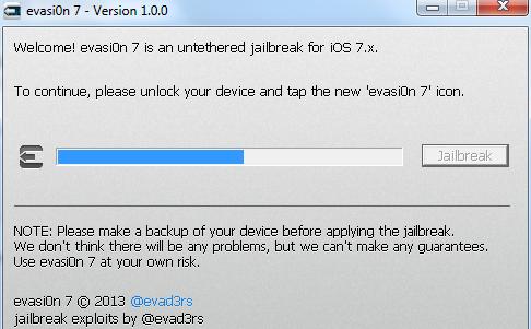 Hướng dẫn jailbreak iOS 7 cho mọi device iOS bằng evasi0n 7