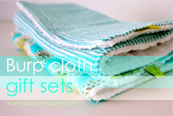 Baby Gift Set Tutorial : Burp cloth gift sets made everyday