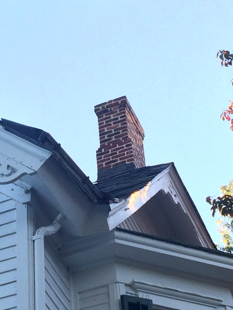 Papered House_Repaired Historic Chimney