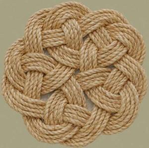 Плетение ковров из шнура