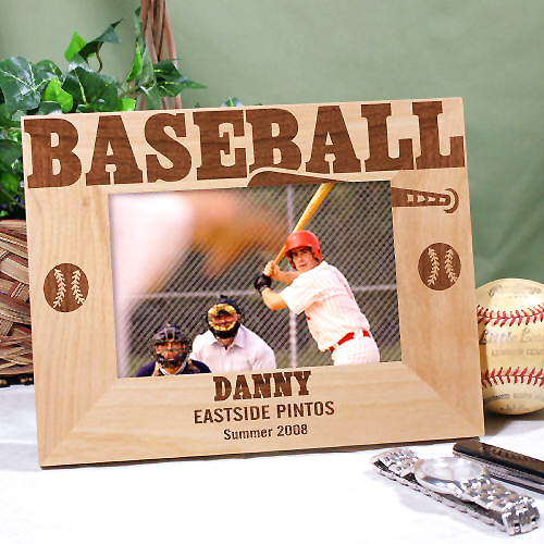 baseball wood customized photo frames