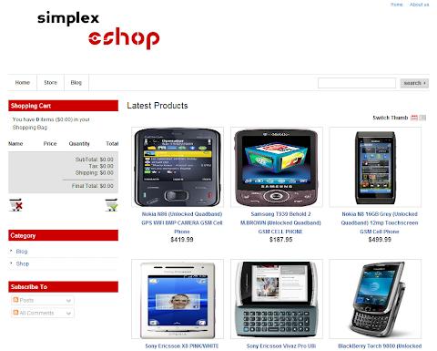 Simplex Eshop Blogger Theme