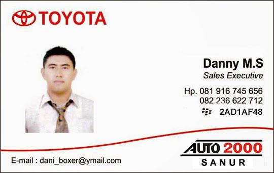 Rekomendasi Sales Toyota Auto 2000 Sanur
