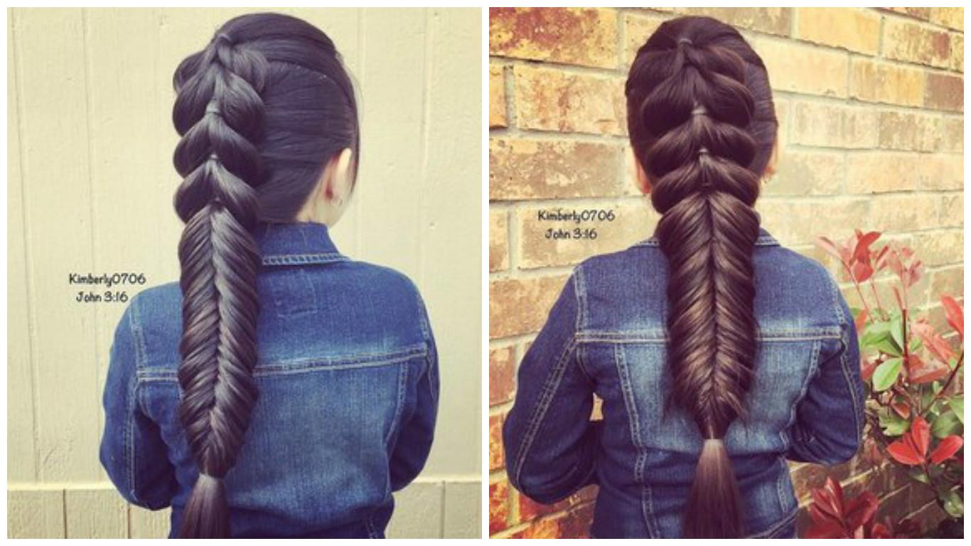 Trenzas en cabello largo
