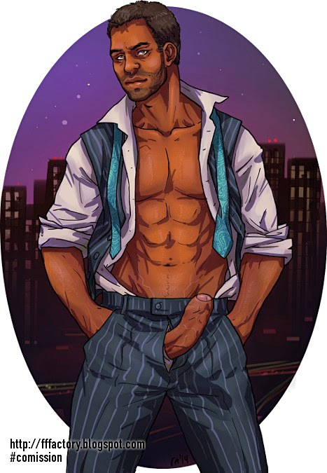 chocolate daddy pinup
