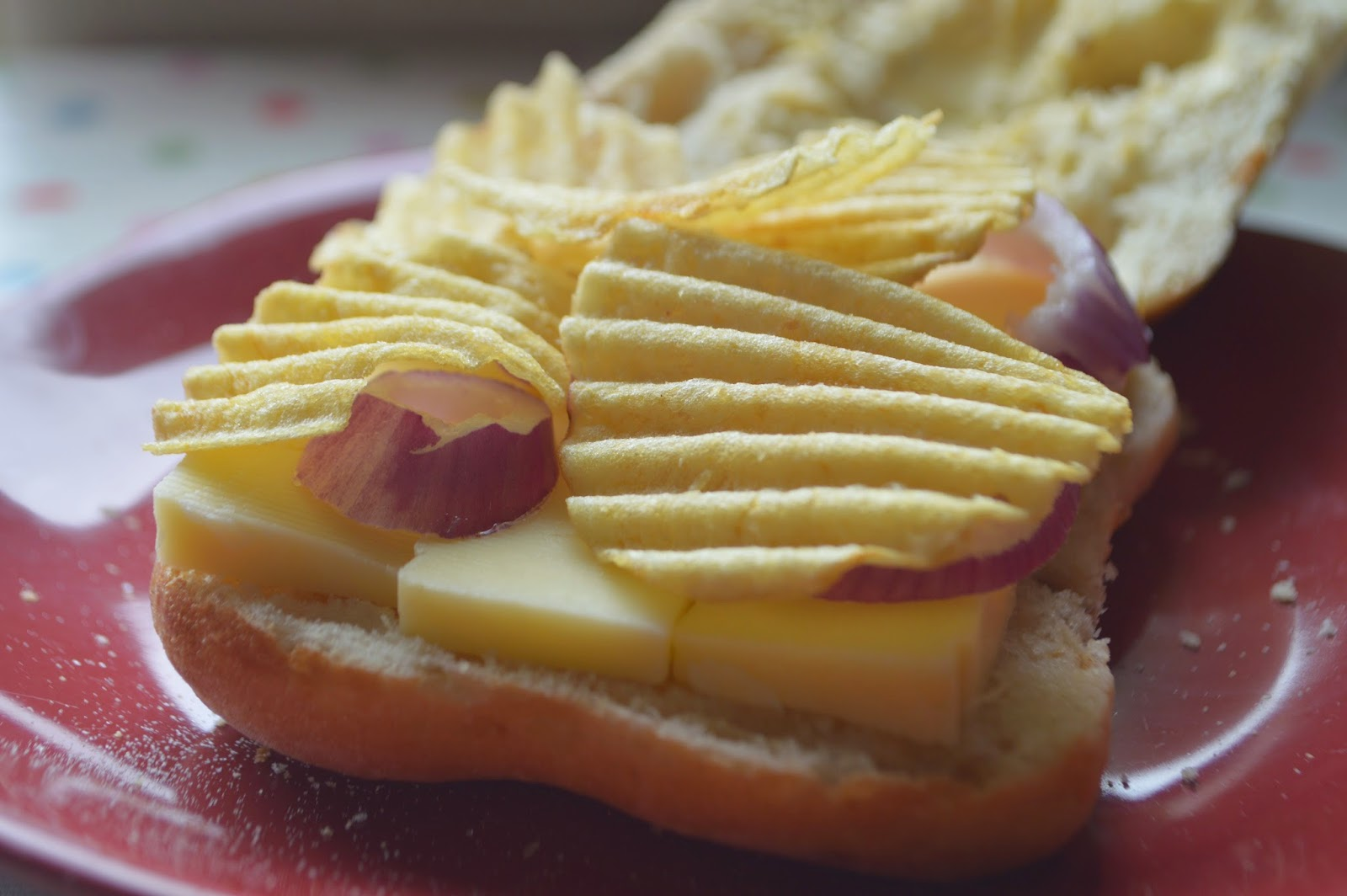 National Crisp Sandwich Week Seabrooks Cheese and Onion Sandwich Recipe