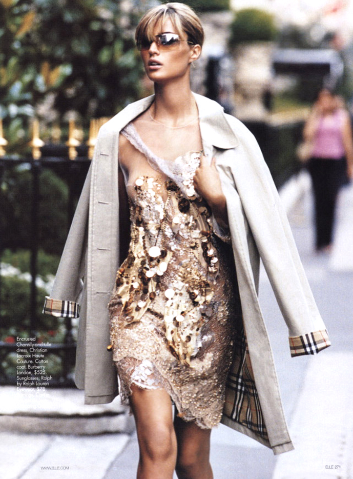 Maja Latinovic in Couture now / Elle US October 2003 (photography: Gilles Bensimon) via fashioned by love british fashion blog
