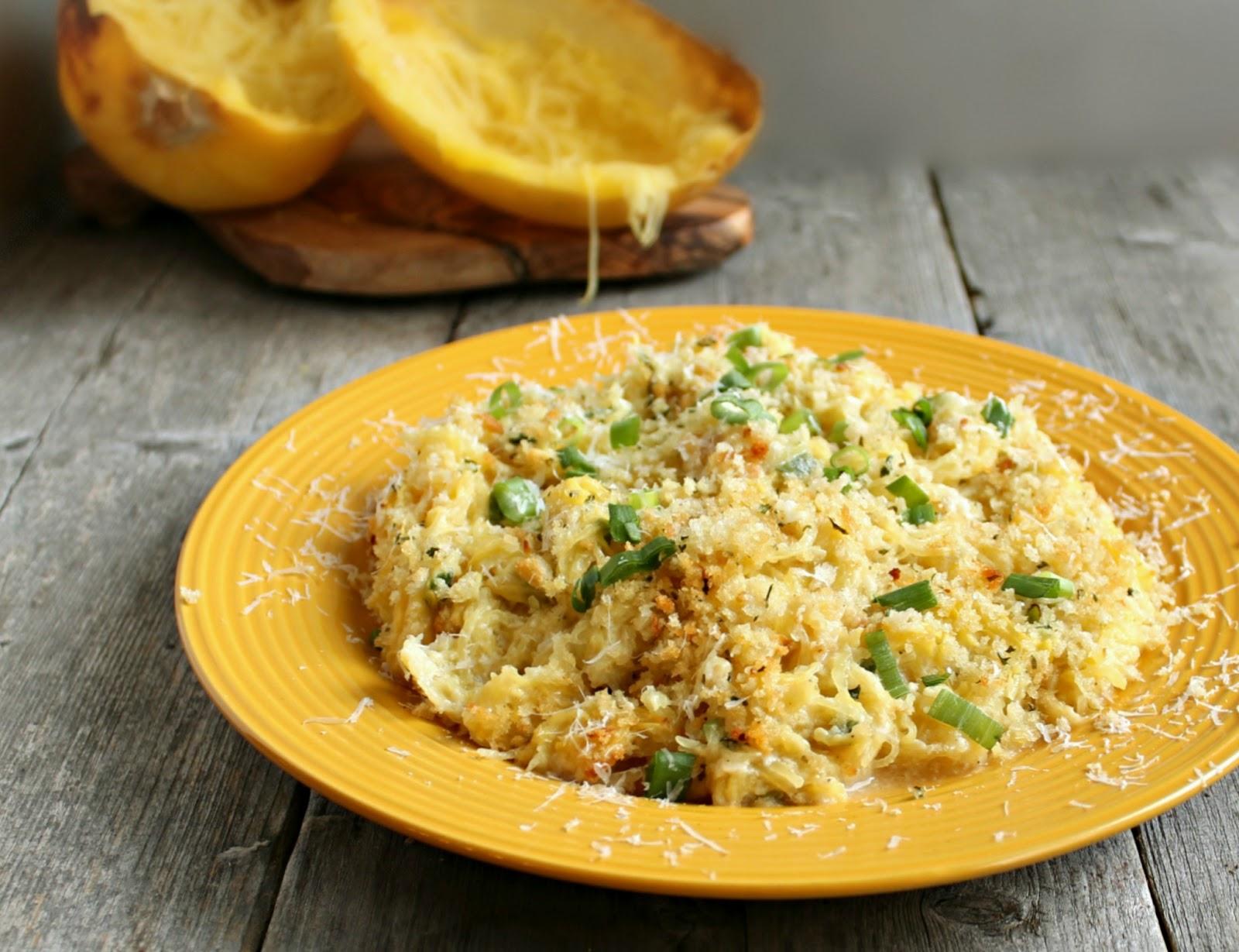 Hungry Couple: Light Spaghetti Squash Gratin