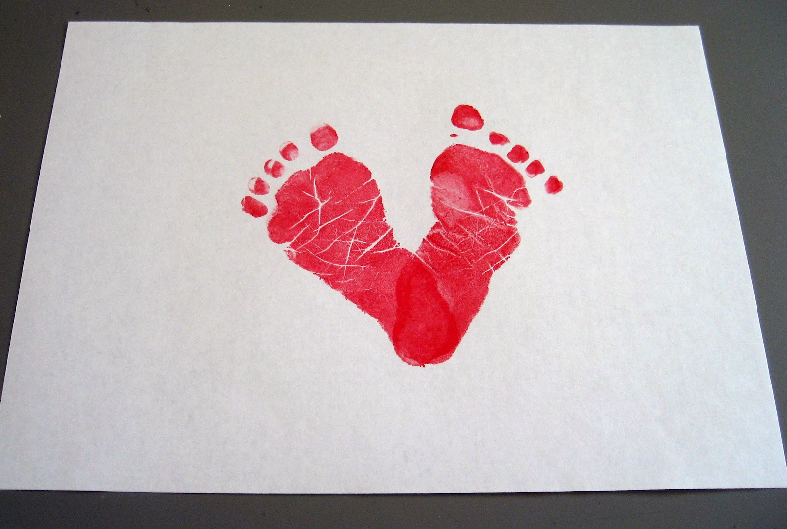jany claire baby footprints heart card perfect for valentine u0027s day