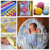 Colorful Entrelac Knitted Baby Blanket