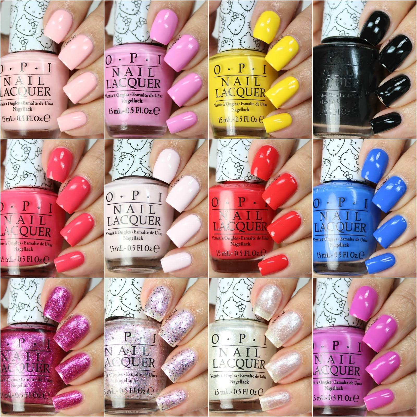Colores de Carol: OPI Hello Kitty Collection. Swatches, Review and ...