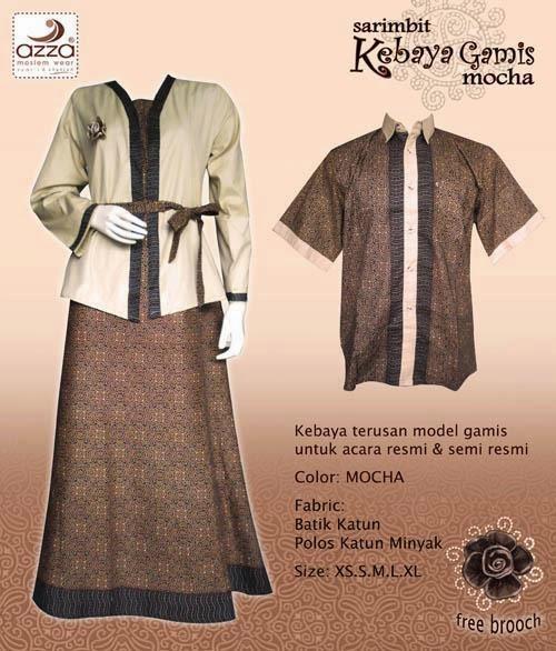 Jilbab Batik Kebaya Mocha