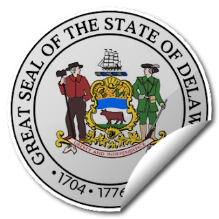 Sticker of Delaware Seal