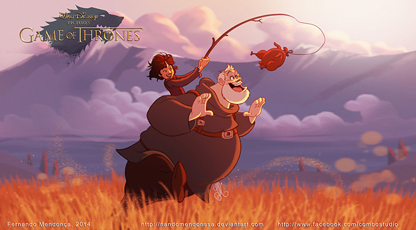 GoT/Disney Mash-Up of Brandon Stark and Hodor