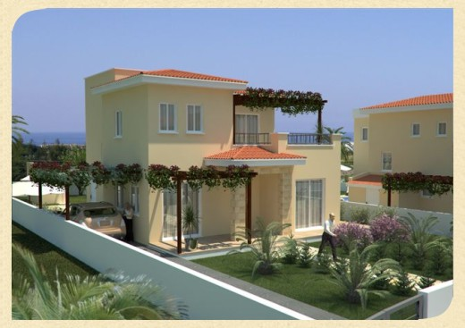 Cyprus villa designs exterior views modern home designs for Villa exterior design ideas