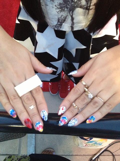 BeckyG Covergirl nail art