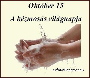 Október 15 - A kézmosás világnapja