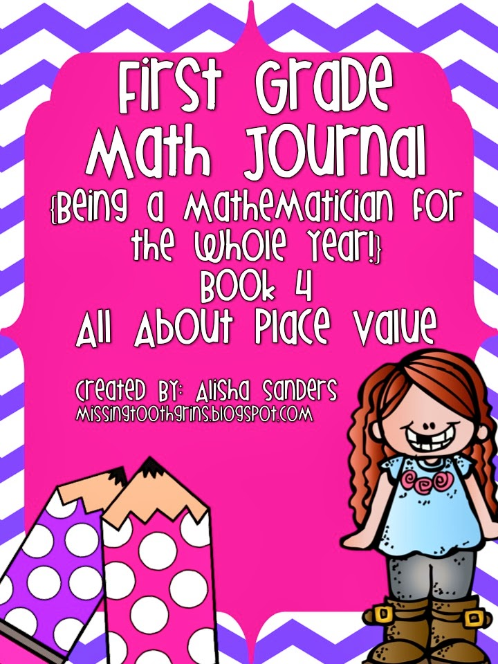 http://www.teacherspayteachers.com/Product/First-Grade-Math-Journal-All-About-Place-Value-1069576