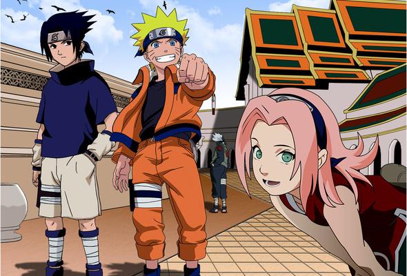Naruto, Sasuke, Sakura and Kakashi