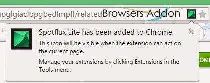 Spotflux-Lite-chrome-install-success