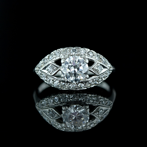 During this period the vintage diamond engagement rings tend dark stones