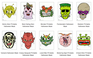 Halloween Masks Printable