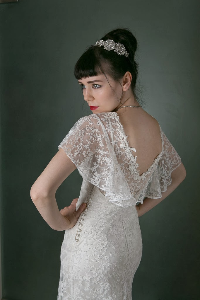 1930s style lace wedding dresses 'Angel', Heavenly Vintage Wedding Blog