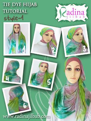 Cara Memakai Hijab Tie Dye 1 by Radina