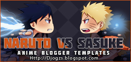 Naruto VS Sasuke V2 Blogger Template