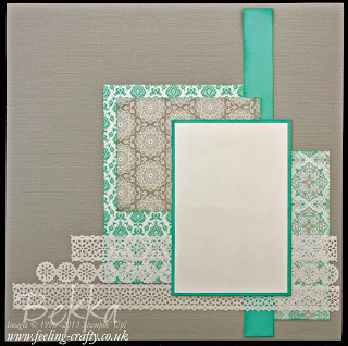 Eastern Elegance Scrapbook Page by UK based Stampin' Up! Demonstrator Bekka Prideaux for the Feeling Crafty Scrapbook Club