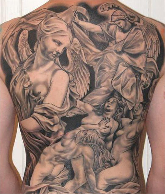 Angel Back Tattoos