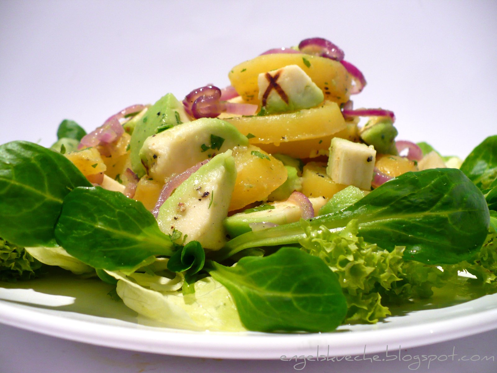 Салат с авокадо пошаговое